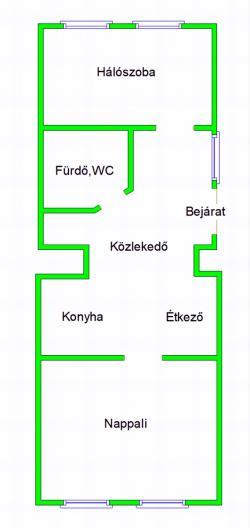 Kiadó lakás 1053 Budapest Vámház körút 47m2 550 €/hó Ingatlan kép: 2