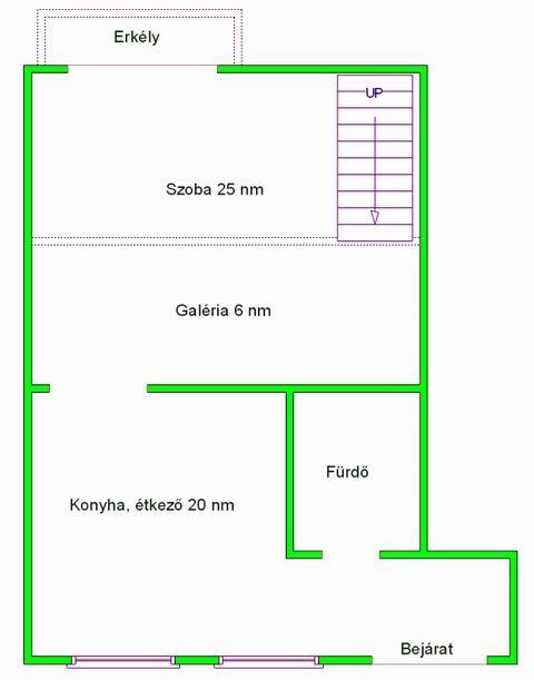 Eladó lakás 1073 Budapest Erzsébet körút 40m2 180000 € Ingatlan kép: 1