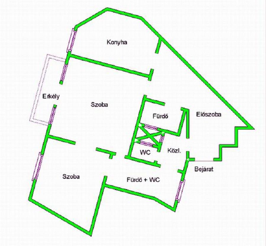 Eladó lakás 1056 Budapest Kecskeméti utca 88m2 96,9M Ft Ingatlan kép: 1