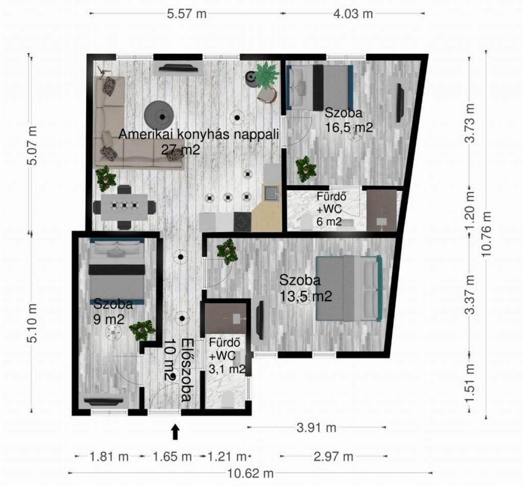 Eladó lakás 1063 Budapest Szív utca 84m2 74,9M Ft Ingatlan kép: 1
