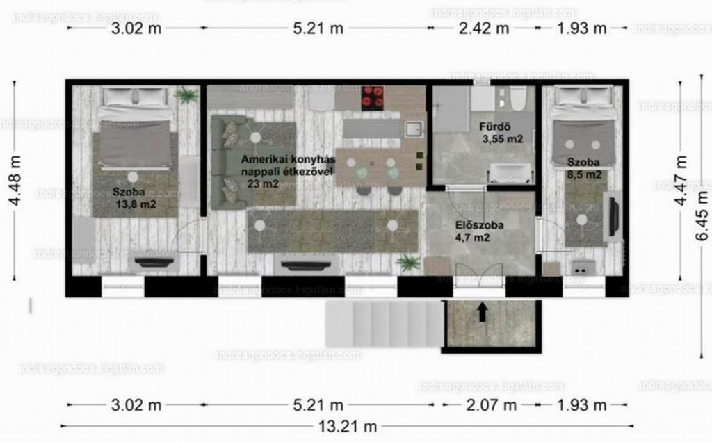 Eladó lakás 1082 Budapest Üllői út 54m2 53,4M Ft Ingatlan kép: 1