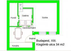 Eladó lakás 1135 Budapest Kisgömb utca 34m2 23,9M Ft Ingatlan kép: 3