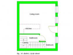 flat For sale 1065 Budapest Lázár utca 39sqm 54,9M HUF Property image: 14