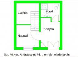 Eladó lakás 1061 Budapest Andrássy út 27m2 27,9M Ft Ingatlan kép: 2
