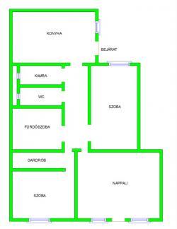 flat For rent 1136 Budapest Balzac utca 85sqm 180000 HUF/month Property image: 3