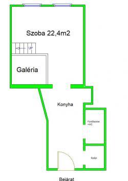 flat For sale 1135 Budapest Jász utca 37sqm 26,8M HUF Property image: 12