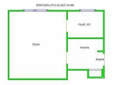 flat For sale 1132 Budapest Röntgen utca 34sqm 26,9M HUF Property image: 3