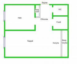 flat For rent 1053 Budapest Fejér György utca 35sqm 150000 HUF/month Property image: 2