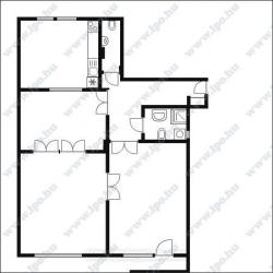flat For rent 1136 Budapest Tátra utca 100sqm 295000 HUF/month Property image: 25